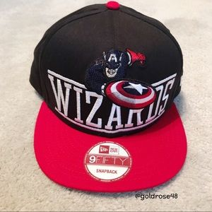 New Era Wizards and Captain America snapback hat